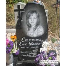 Стандартный памятник с крестом и розами №11-012,Женские памятники
