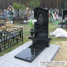 Стандартный памятник Волна с вазой №11-031,Стандартные Одинарные памятники