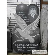 Памятник с сердцем и голубем №12-007,Памятники с сердцем