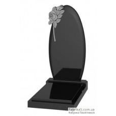 Памятник овальный с розами №12-011,Фигурные Одинарные памятники