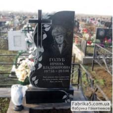 Женский памятник роза с крестом №12-049,Фигурные Одинарные памятники