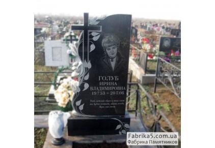 Женский памятник роза с крестом №12-049, Женские памятники