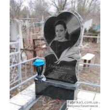 Памятник сердце и тюльпаны из гранита №12-062,Женские памятники