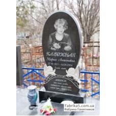 Женский памятник с ангелочками №12-066,Фигурные Одинарные памятники
