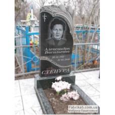 Памятники рваный камень и тюльпаны №12-069,Памятники с цветами