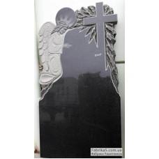 Памятник с ангелом и крестом  №12-071,Фигурные Одинарные памятники