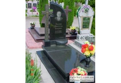 Одинарный памятник с крестом №13-016, Памятники с крестом