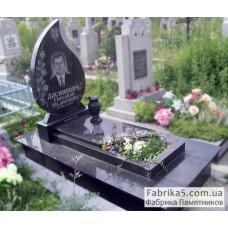 Надгробный памятник в форме слезы №13-023,Фигурные Одинарные памятники