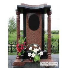 Элитный памятник с колоннами из гранита №14-001,Памятники из красного гранита