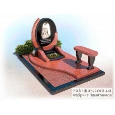 Необычный памятник из красного гранита №14-031,Элитные памятники