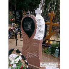 Эксклюзивный памятник с цветами и слезой №14-049,Женские памятники
