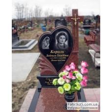 Женский памятник с сердцем и крестом №14-083,Женские памятники