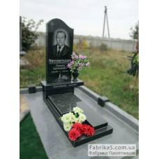 Классический памятник с волной и надгробием №15-005,Одинарные памятники