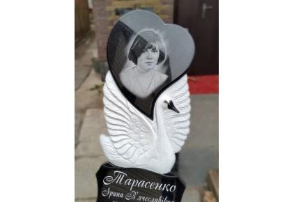 Памятник лебедь с сердцем №17-002-1, Памятники с Лебедем