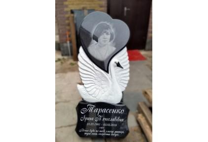 Памятник лебедь с сердцем №17-002-2, Памятники с Лебедем