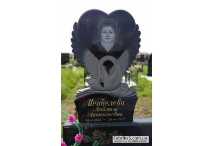 Памятник лебедь с сердцем №17-005-2, Памятники с Лебедем