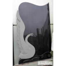 Недорогой памятник с лебедем №17-007,Памятники с Лебедем