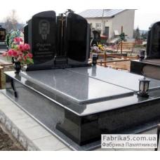 Двойной памятник с закрытыми надгробиями   №23-013,Двойные памятники средней сложности