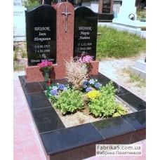 Стандартный двойной памятник в комплексе №23-021,Двойные памятники