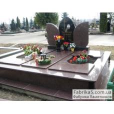Памятник на троих №32-003,Памятники на троих