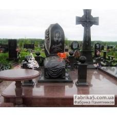 Гранитный гроб №42-008,Памятники с крестом