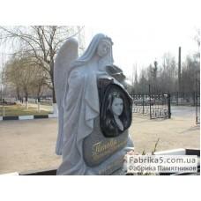 Памятник со скорбящей №73-002,Памятники с Ангелом