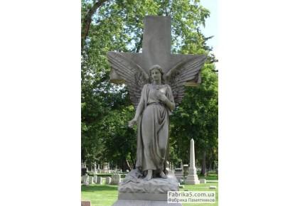 Ангел с крестом №73-007, Скульптура на могилу
