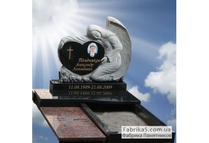 Ангел с сердцем №73-025-1, Памятники с Ангелом