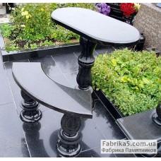 Стол и скамейка на кладбище №84-001,Столики и скамейки