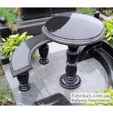 Круглый столик на кладбище  №84-002,Столики и скамейки