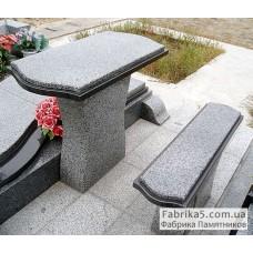 Стол и скамейка на кладбище №84-003,Столики и скамейки
