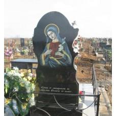 Цветная икона Девы Марии на памятник №96-002,Оформление памятников