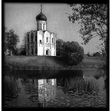 Гравировка церкви на памятник №96-004,Оформление памятников