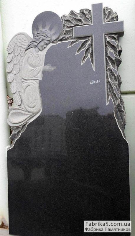 Одинарный памятник с анелом №12-071, Гранитные памятники, Фабрика Памятников