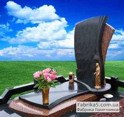 Элитный Одинарный памятник №14-038, Гранитные памятники, Фабрика Памятников