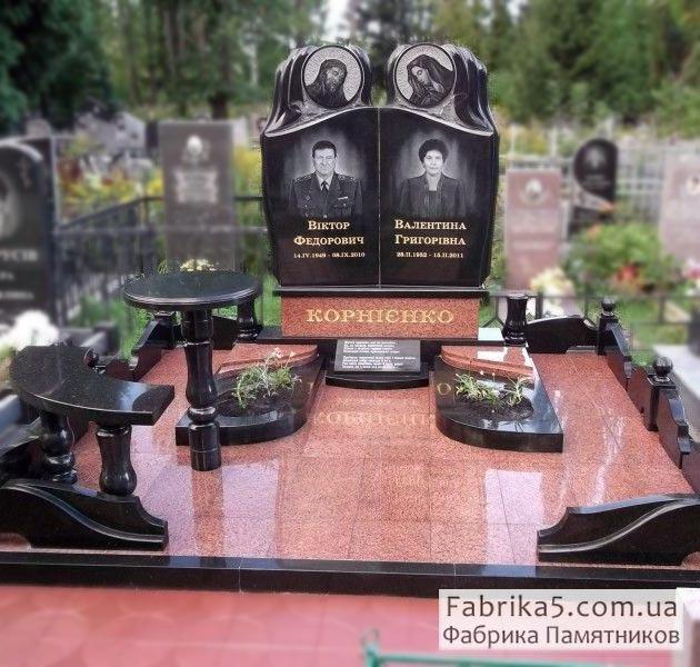 Памятник на двоих №24-003, Двойные памятники, Фабрика Памятников, Двойные памятники, Фабрика Памятников