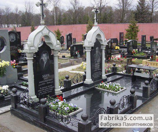 Гранитный комплекс на кладбище №42-007, мемориальные комплексы, Фабрика Памятников