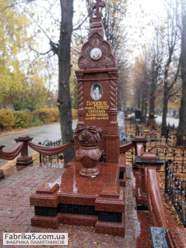 Комплекс из красного гранита №63-028, гранитные комплекса, Фабрика Памятников