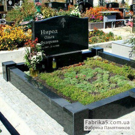 Цоколь на могилу №81-002, цоколя на кладбище, оградки на могилу, Фабрика Памятников