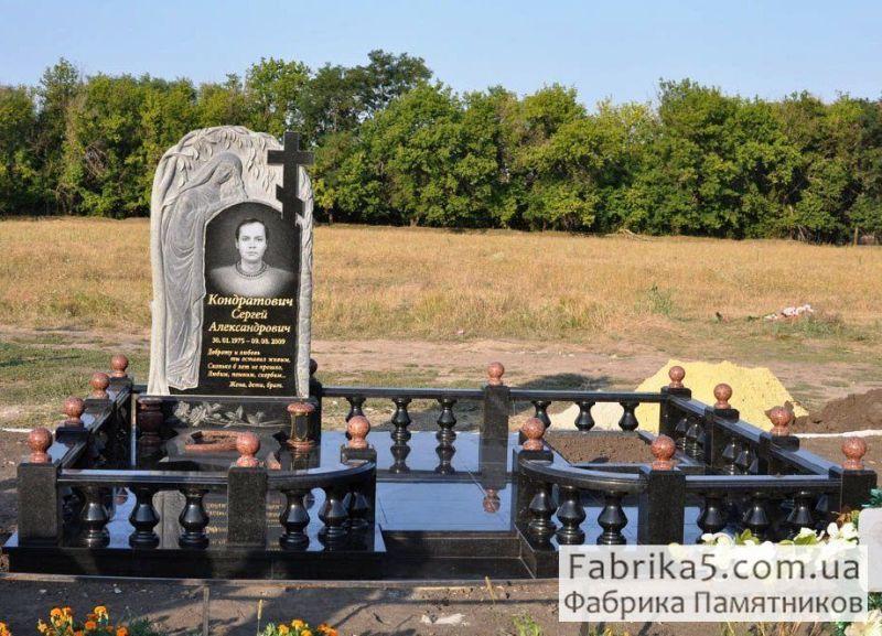 Ограда из гранита  №82-004, цоколя на кладбище, оградки на могилу, Фабрика Памятников