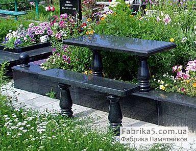 Скамейка на кладбище №83-004, цоколя на кладбище, столы и скамейки на могилу, Фабрика Памятников