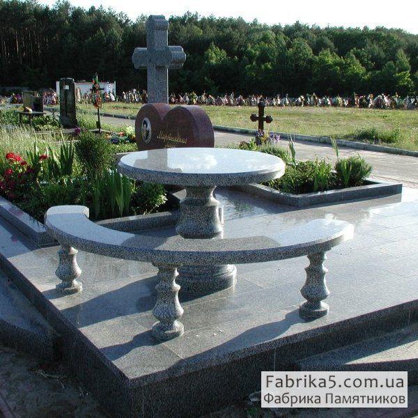 Гранитный столик №84-005, столы и скамейки на кладбище, Фабрика Памятников