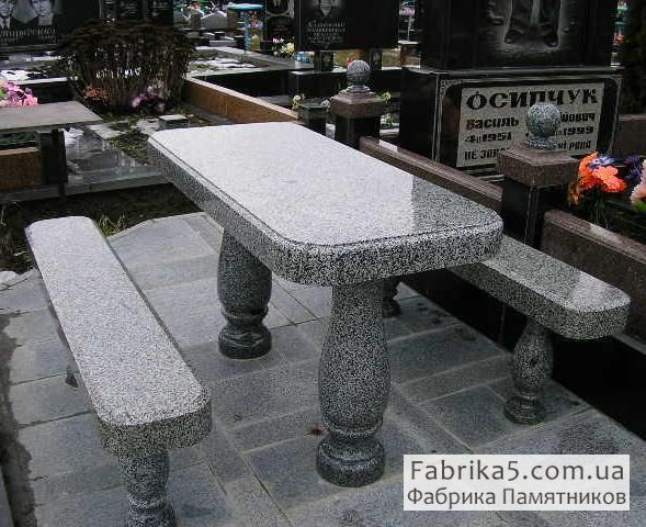 Столик из гранита №84-006, столы и скамейки на кладбище, Фабрика Памятников