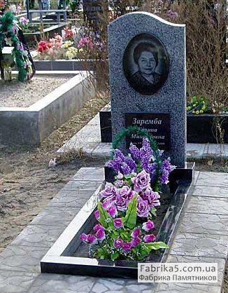 Стандартный одинарный памятник №11-010