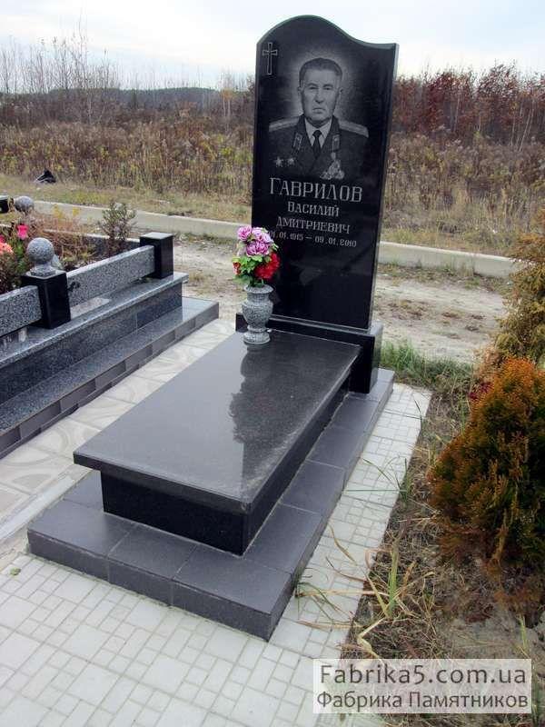Классический одинарный памятник №15-013