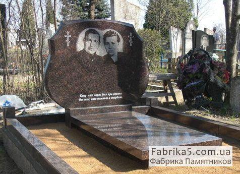 Фигурный двойной памятник №22-011