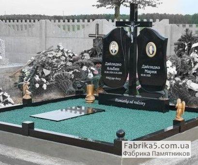 Фигурный двойной памятник №22-012