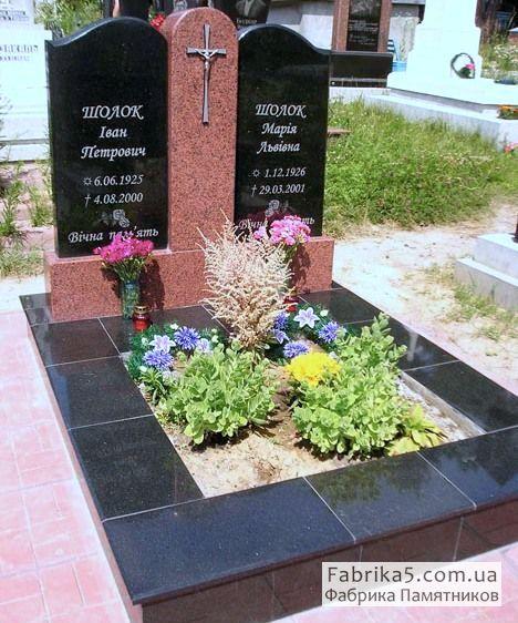 Нестандартный двойной памятник №23-021