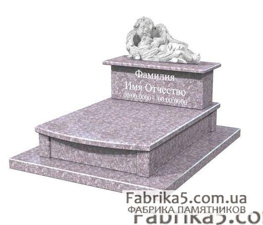 Детский памятник с ангелочком №50-003, ангелочки на памятник