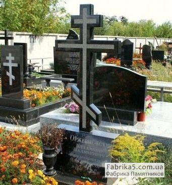 Стандартный памятник с крестом №61-001